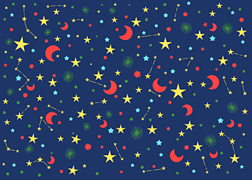 dark blue cute stars tile background
