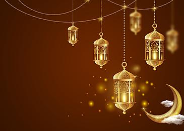 eid mubarak moon ornament background