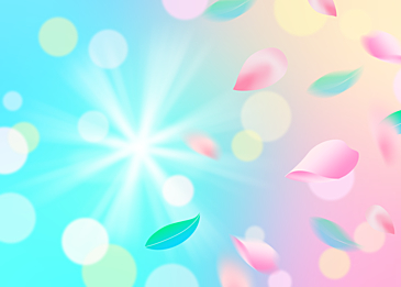 fantasy background with scattered petals