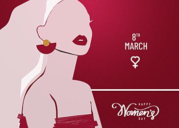 fashionable international womens day background