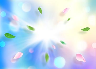 floating petals fantasy background