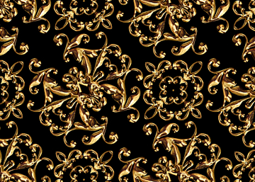 golden business style european print seamless background