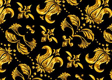 golden european style print seamless background
