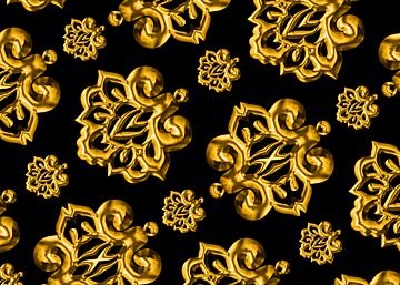 golden line european print seamless background