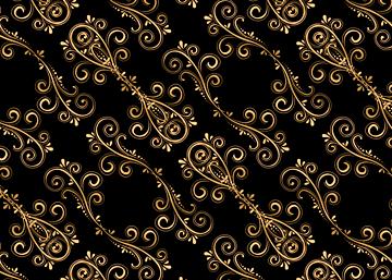 golden line pattern european print seamless background