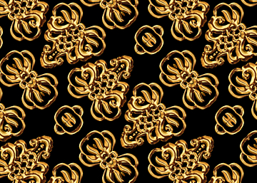 golden line simple style european print seamless background