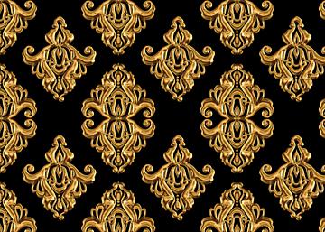 golden retro minimalist style european print seamless background