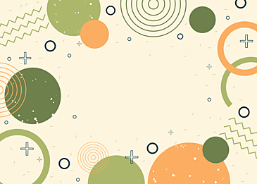 green round abstract color geometric background