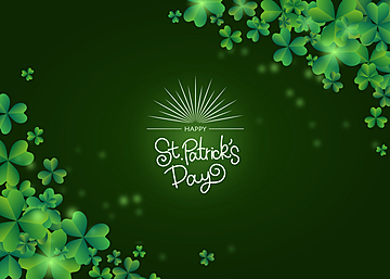 holiday st patricks green clover creative background