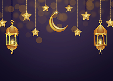 light and shadow twinkle star and moon background eid mubarak