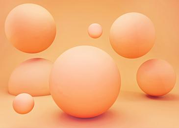 orange 3d stereo ball background
