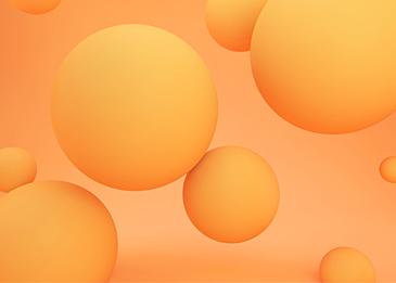 orange yellow 3d stereo ball background