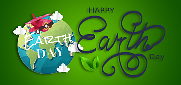 paper cut style green gradient example illustration earth day background