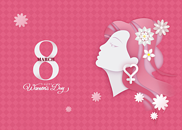 paper cut style international women background