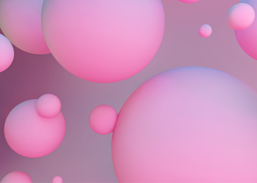 pink 3d stereo ball background