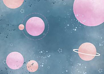 pink blue gradient watercolor planet background