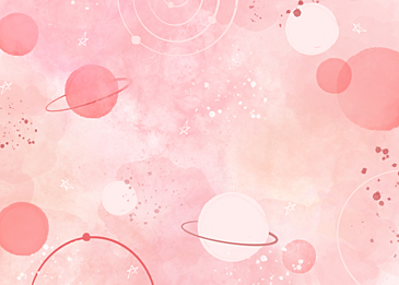 pink cute watercolor planet background