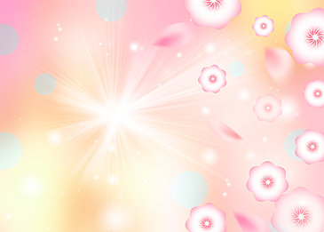 pink flowers spring background