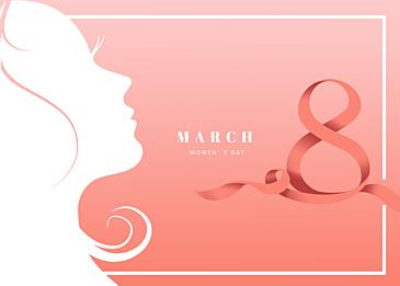 pink gradient international womens day background