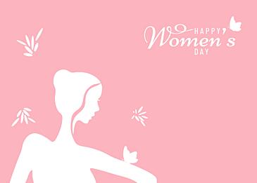 pink minimalist international women background
