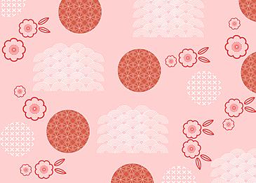 pink seamless retro geometric plum blossom