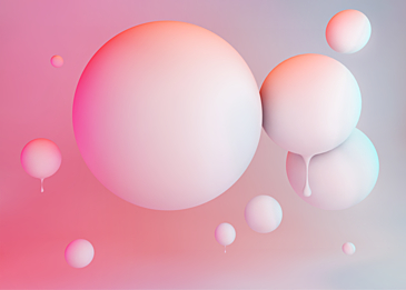 pink white 3d three dimensional ball dripping background