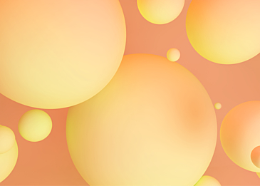 pink yellow 3d stereo ball red background