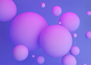 purple 3d three dimensional ball blue background