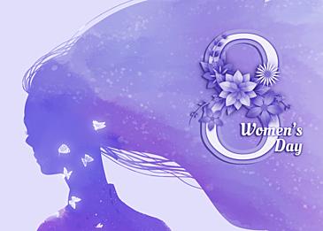 purple international womens day background