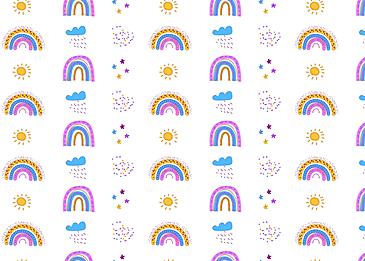 rainbow multicolor rainy cloud dark cloud color
