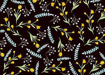 seamless retro flower leaf background