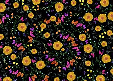 seamless retro flower tile background