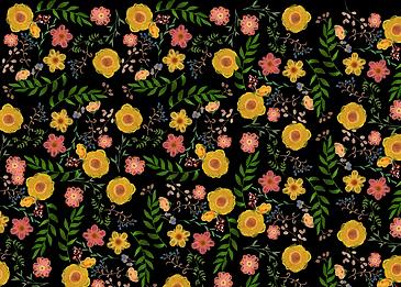 seamless retro flowers flowers background