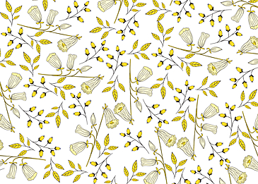 seamless retro flowers small floral background