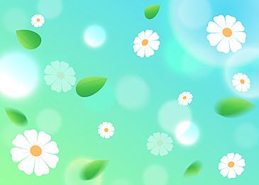 spring floating petals background