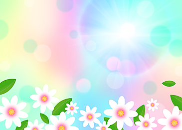 spring flower light effect background