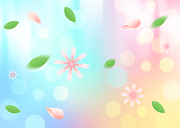 spring flower spot background