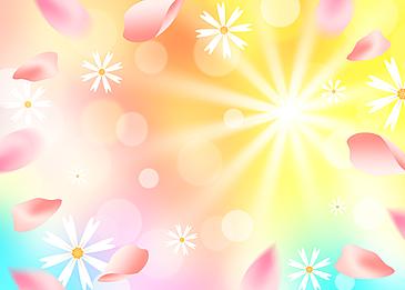 spring pink petals background