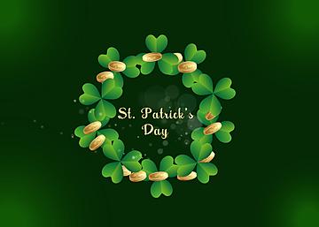 st patricks creative clover background