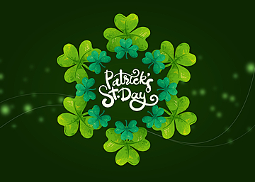 st patricks shamrock green background