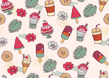 summer cute dessert cold drink background