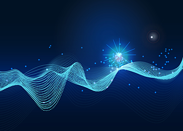 technology abstract blue particle background