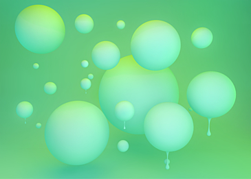 turquoise 3d stereo ball background