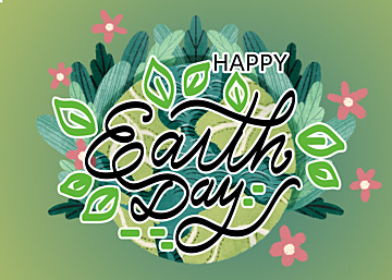 watercolor style gradient cartoon illustration earth day background
