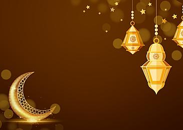 western eid mubarak star and moon decoration