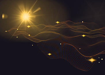 yellow abstract light particle background