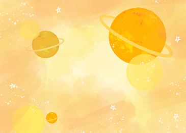 yellow gradient watercolor planet background