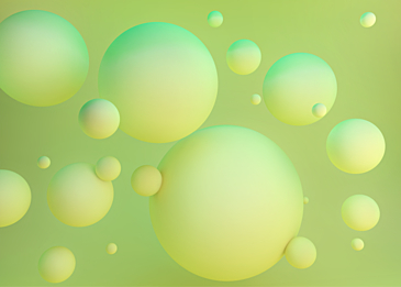 yellow green 3d stereo ball background