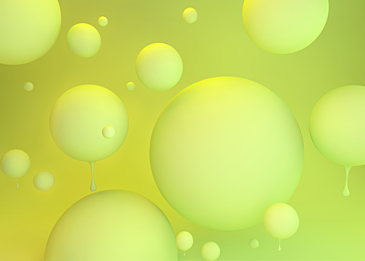 yellow green 3d three dimensional ball dripping background
