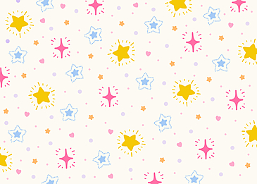 beautiful colorful pink yellow blue white stars tile background